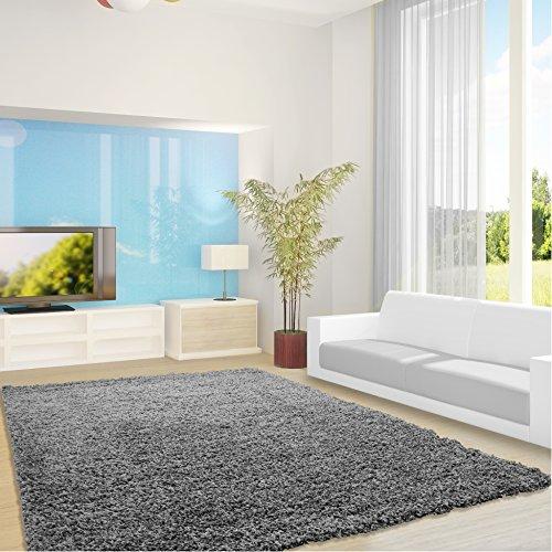 Preisvergleich Produktbild Shaggy Hochflor Teppich Feli Comfort Dezent - 12 Größen und Farben - Öko-Tex 100 (120 x 170 cm, Grau)