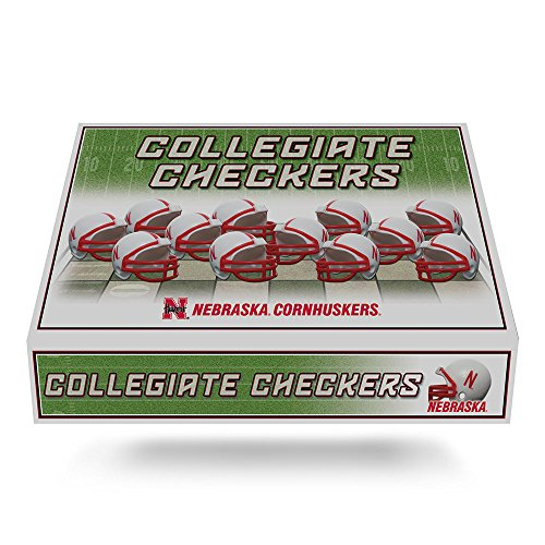 Unbekannt NCAA Helm Checker Set, Nebraska Cornhuskers (Handheld-brettspiele)