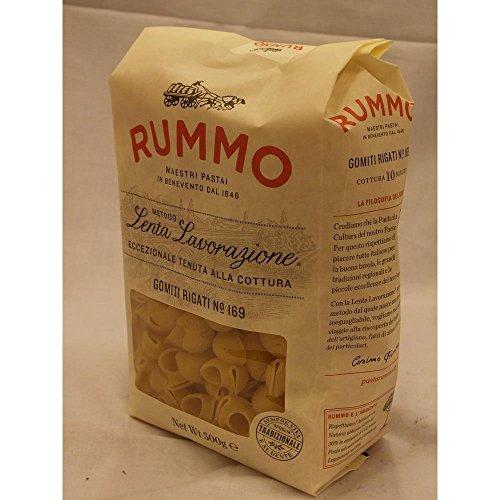 Rummo Lenta Lavorazione Gomiti Rigati No.169 500g Packung (große Rundnudeln)
