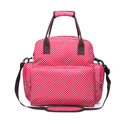 Zhhlaixing Updated Baby Mummy Diaper Bag Mummmy Nappy Sac Tote Handbag Change Mat Hot red