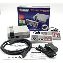 Consola Classic Mini Retro Mini HDMI versión 600 Juegos clásicos Retro consola de juegos en blanco y negro clásico juego consolas sistema profesional para nes Game Player + construido en 600 TV video juego con controladores dobles
