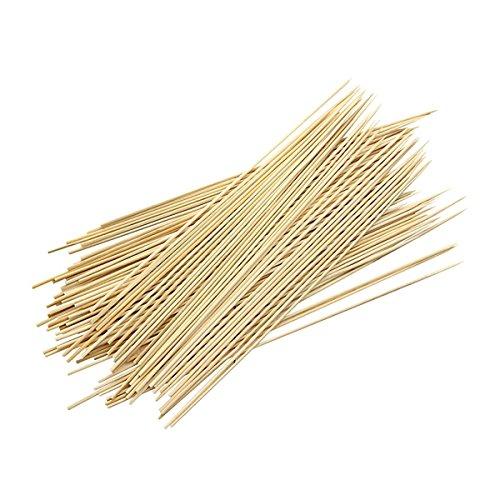 kentop Brochettes en bambou grillés 90 × BBQ Brochettes en bois 25 cm