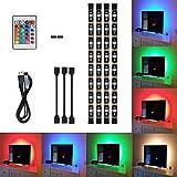 LED-Streifen weyty TV-Hintergrundbeleuchtung Wasserdichte LED TV Licht 18 wechselnden Farben led Strip mit Fernbedienung für 40 bis 60 Zoll HD TV,TV-Bildschirm und PC-Monitor,Led Strip