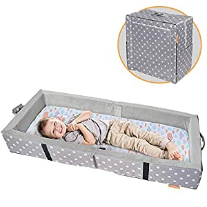 Milliard – Tragbares Kleinkindbett mit Weichen Seiten – Zusammenklappbar zum Reisen – Matratze Misst 122 x 50 cm