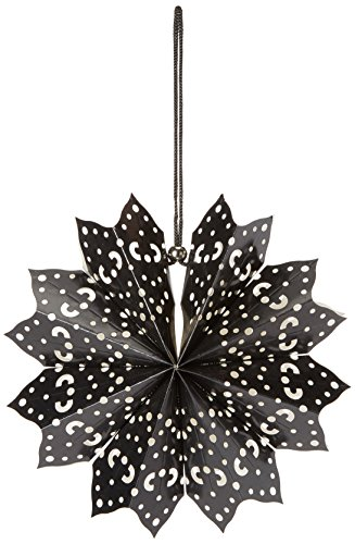 American Crafts Heidi Swapp 8 points Star Lanterne en papier 28 cm Noir, acrylique, multicolore