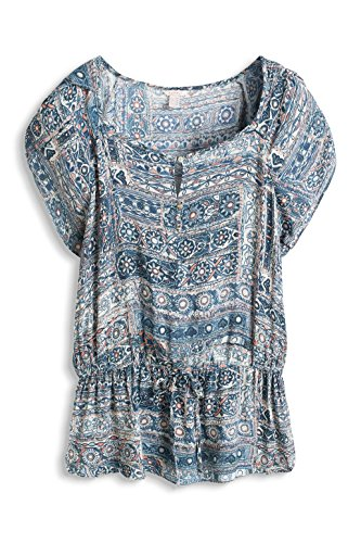 Esprit Fluent N Viscos - Blouse - Femme Bleu - Blue (Grey Blue)