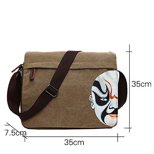 E-Bestar Unisex Vintage Schultertasche Canvas Herren Handtasche für ipad Retro Aktentasche Vintage Canvas Tasche Modishe Ideal für Büro Schwarz