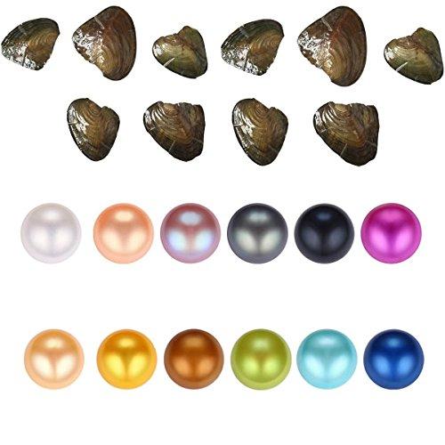 Milky Way 20Pcs mix di colore singolo Twins Triplet Quad 6.5-7mm coltivate, ostriche con perla rotonda all' interno, Perla, A
