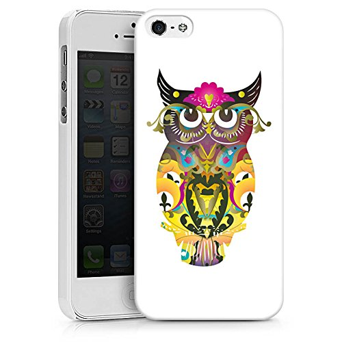 Apple iPhone X Silikon Hülle Case Schutzhülle Decorative Owl Eule Muster Hard Case weiß