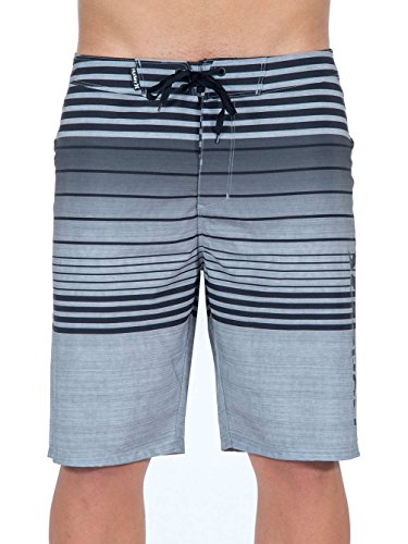 "Herren Boardshorts / Surfshorts ""Phantom Peters"" schwarz/grau"