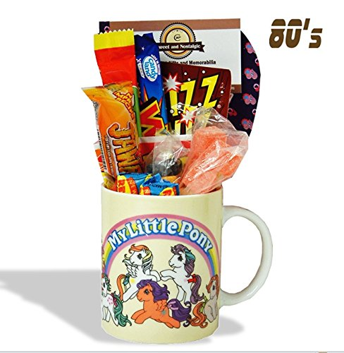 My Little Pony Mug with a Giddy Up portion of 80's Retro Sweets.