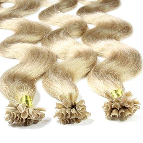 Just beautiful hair 50 x 1 g extension capelli veri cheratina - 60cm - ondulato, colore #20 di cenere