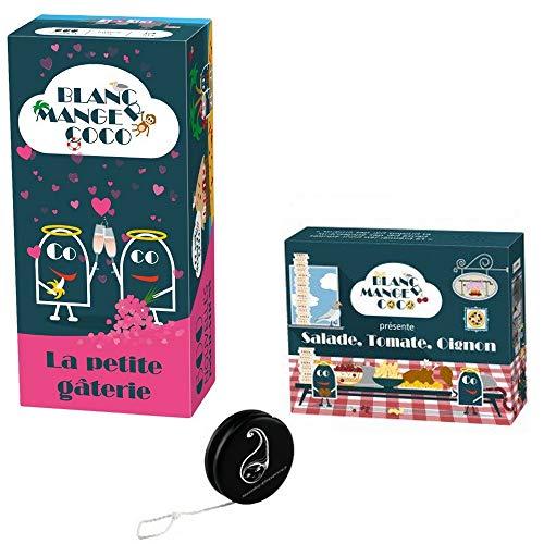 Pack Jeu Blanc Manger Coco Tome 3: La Petite gâterie + Extension Salade Tomate Oignon+1 Yoyo Blumie