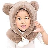 Sciarpa del cappello del bambino - YOPINDO Inverno caldo Earflap Bambino  Bambino Bambini Ragazzi Cappelli Cappuccio Sciarpa Cotone Skull Cap  (Marrone)   48f2fca5a835