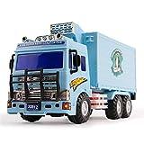 ZhaoXH Kühlanhänger Spielzeug Baufahrzeuge Boy 3-6 Jahre altes Auto Modell - Blau