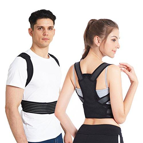 """Slimerence Rücken Haltungskorrektur, Rücken Schulter Verstellbar Atmungsaktiv Bandage Geradehalter zur Haltungskorrektur für Damen, Herren und Child M(31-35\"""")"""