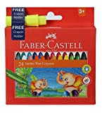 #3: Faber-Castell Jumbo Wax Crayons - 24 Shades + free crayon holder