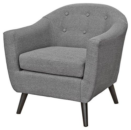 Febland Grey Cleo Fabric Tub Chair, Linen, 77x74x79 cm