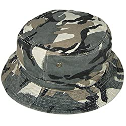 Hey Hey Twenty - Adults & Childrens Reversible Camouflage Bush Hat, Colour : Faded Camouflage, Size : 55cm (Kids Approx Age 7-11)