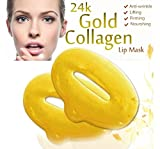 Boolavard 10 Piece 24K Gold Hydratant Gel Soins de la peau Collagène Lip Hydrating Masques