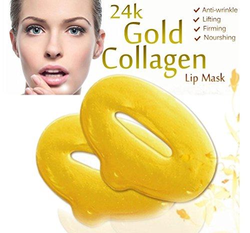 Boolavard 10 Piece 24K Gold Hydratant Gel Soins de la peau Collagène Lip Hydrating Masques