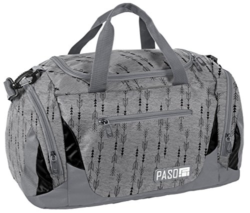 Sporttasche Reisetasche Mädchen Jungen Damen Sauna Tasche Sport Schul Weekender (Grau Pfeile)