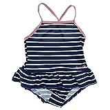 Minymo Baby Mädchen Einteiliger Badeanzug, Größe: 80-86 cm, Alter: 12-18 Monate, 50+ UV Schutz, Farbe: Blau gestreift, 170676