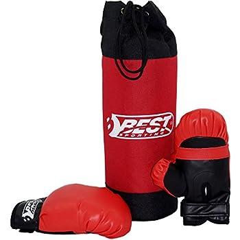 Saco de boxeo y guantes de...
