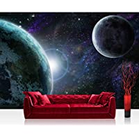 Non-woven Photographic Wallpaper 350x245cm–Top Quality–Premium Plus Photo Wallpaper Wall Picture XXL Decorative Wall Picture Wall Mural Photo Wallpaper Space Earth moon–No. 90 preiswert