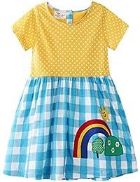 d54912a7e Bebé Niñas Vestidos,Vestido Casual de Manga Larga con Estampado Animal de  Dinosaurio para 1