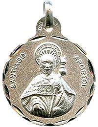 5ca33bb0ec6e Medalla Santiago APÓSTOL 21 MM Plata ...