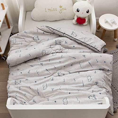 COTTONN Baumwolle Kinderbettwäschesätze Jungen und Mädchen Bettwäsche Steppdecke Bettbezug-Sets aus 100% Baumwolle (Color : E) (Holzkohle Grau Bettbezug)