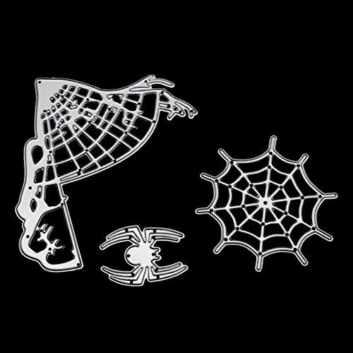 cinnamou Halloween Metall Schneiden stirbt Schablonen - DIY Scrapbooking Prägepapier Karten Album Tagebuch Schablone (Einfache Dekorationen Für Hausgemachte Halloween)