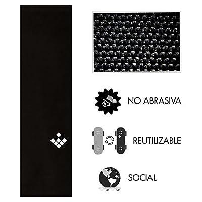 Schleifbänder Schleifband Schleifbänder für Skate creamgrip nicht Schleifbänder, nicht zerstört nicht deine Schuhe–wiederverwendbar, wasserdicht, Schwarz, 84x 23x 0'1cm