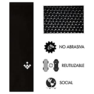 Cream Prime CreamGrip Non-Abrasive Grip Tape for Skateboard, Does Not Destroy Your Shoes, Reusable, Waterproof, Black, 84 x 23 x 0.1 cm