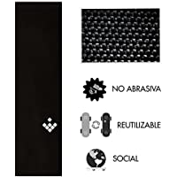 Lija no Lija CreamGrip, Lija para Skate no abrasiva, no destroza Tus Zapatillas - Reutilizable, Impermeable, Color Negro, 84 x 23 x 0'1 cm
