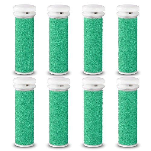 E-Cron® Ersatzrollen kompatibel mit Emjoi Micro-Pedi Hornhautentferner, Extra Hart, 8 Stk. Hornhaut Ersatzroller