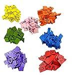 Hupoop  100 Wooden Scrabble Tiles Black Letters Numbers For Crafts Wood Alphabets (Orange)