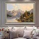 tzxdbh Rahmenlose Klassische Landschaft Ölgemälde Hand Gedruckt Auf Leinwand Für Haupthochzeitsdekor Wandkunst Bilder