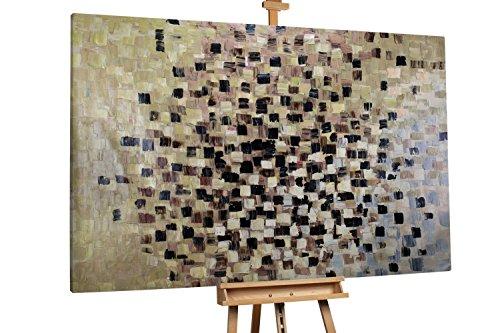 'Epiphany' 180x120cm | Abstrakt Braun Schwarz | Modernes Kunst Ölbild