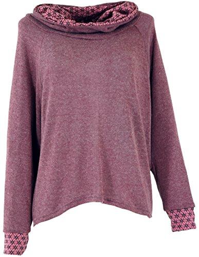 Guru-Shop Hoody, Sweatshirt, Pullover, Kapuzenpullover, Damen, Altrosa, Synthetisch, Size:S/M (38), Pullover, Longsleeves & Sweatshirts Alternative Bekleidung