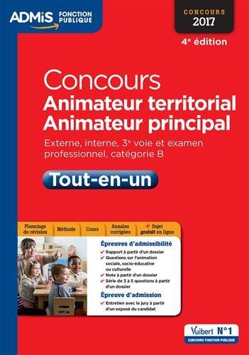 Concours Animateur territorial et animateur principal - Catégorie B - Tout-en-un - Concours 2017