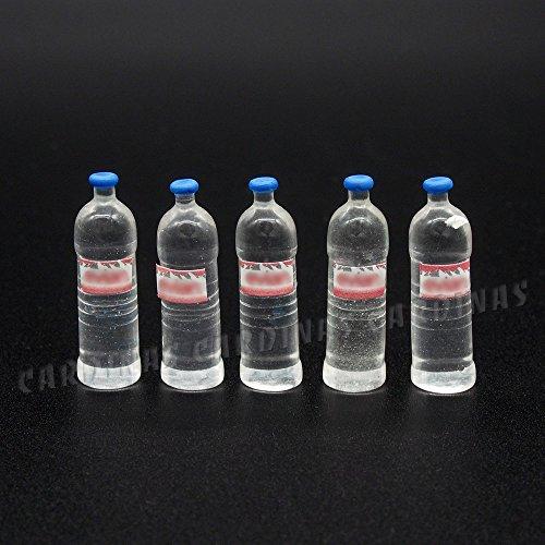 Odoria 1/12 Miniatura 5PZ Botella de Agua Bebidas Cocina Accesorio para Casa de Muñecas