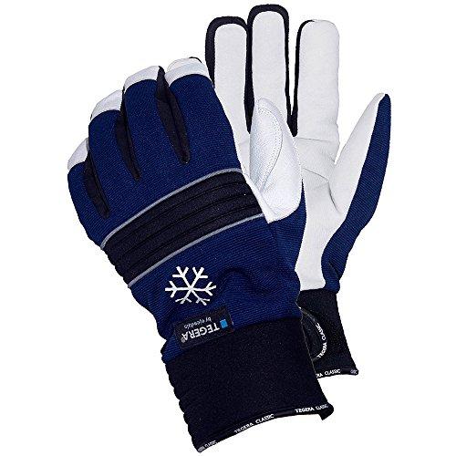 Ejendals Lederhandschuh Tegera 297, Größe 10, 1 Stück, schwarz/blau/weiß, 297-10 (Größe 10 Heels Für Männer)