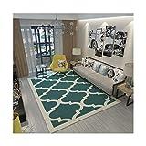 DAMENGXIANG Moderne Grüne Geometrische Teppich Für Wohnzimmer Couchtisch Zimmer Schlafzimmer Mat Rutschfeste Fußmatte Soft Home Decor 80×120 cm