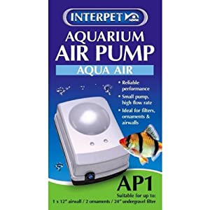 Interpet Aquarium Air Pump with Plug
