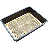 Yardwe Hydroponics Seed Sprouter Tray Square Seedling Nursery Tray With Clapboard 12 Grids