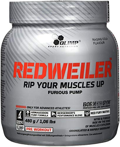OLIMP Redweiler  Pre Workout 480 grams Raging Cola