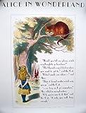 Cheshire Cat Poster, Alice im Wunderland Poster - John Tenniel Drucke-56cmx71cm