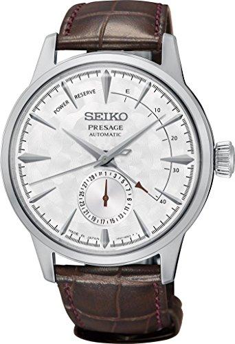 Seiko Reloj Analógico para Hombre de Automático con Correa en Cuero SSA363J1